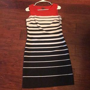 Dresses & Skirts - Red, white & black stripped dress